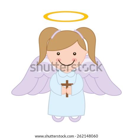 cute angel design  vector