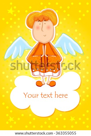 cute angel  little man on the