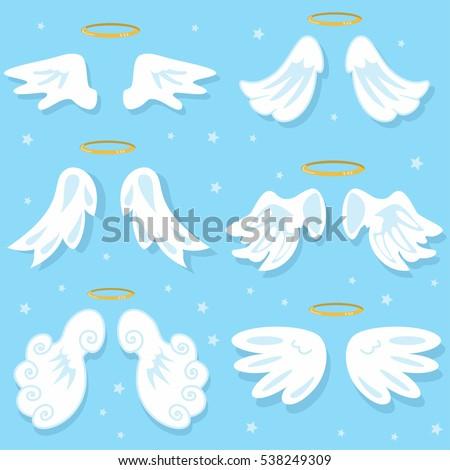 cute angel wings cartoon