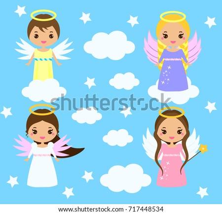 cute angels kawaii style boys
