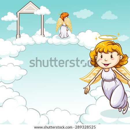 cute angels standing on the