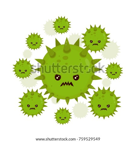 Cute angry evil bad fly germ virus infection,micro bacteria.Vector modern flat style cartoon character illustration.Isolated on white background.Microbe, Pathogen, Virus icon.Cancer concept