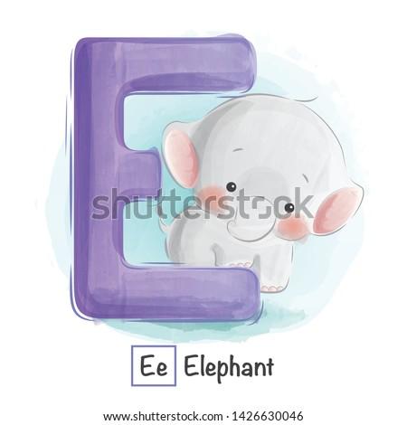 Cute Animal Alphabet Series A-Z Zdjęcia stock ©