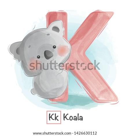 Cute Animal Alphabet Series A-Z Stok fotoğraf ©