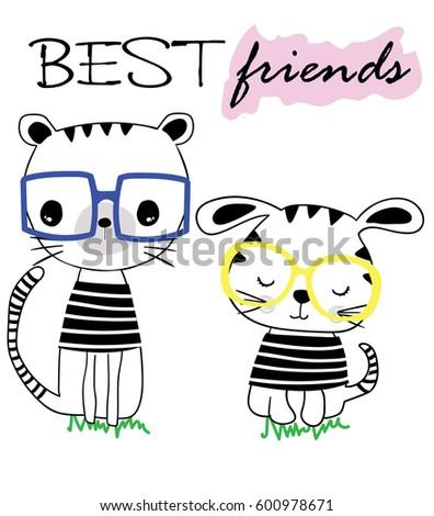 cute animal cartoon artwork