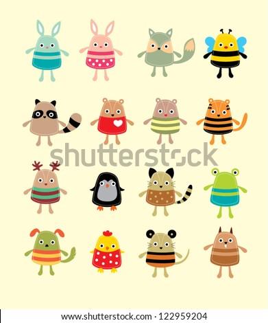 cute animal doodle