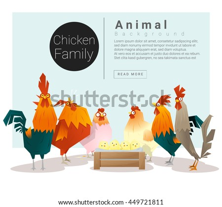 cute animal family background