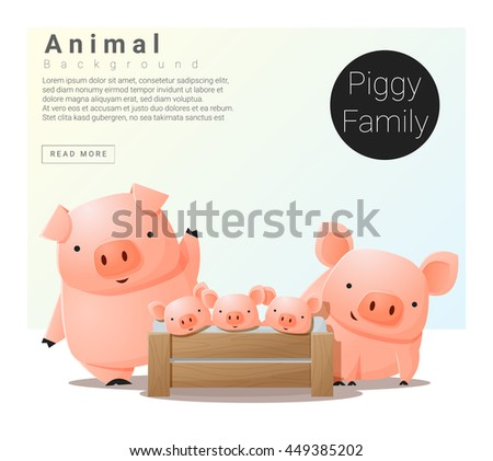 pig family download free vector art stock graphics images