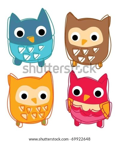 Cute animal icon vector illustration