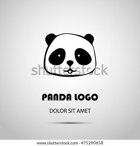 cute animal panda logo design
