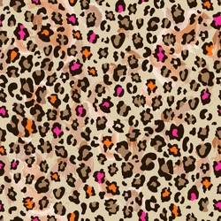 cute animal pattern with neon color