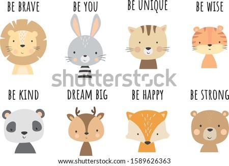 cute animal vector nursery
