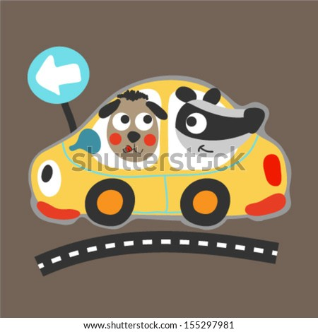 cute animals driving