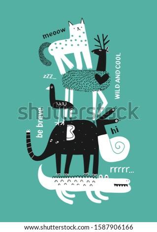 cute animals t shirt graphics