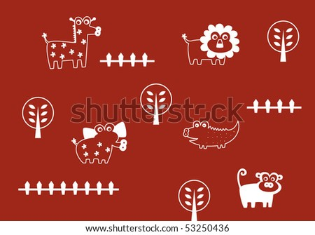 cute animals wallpapers. stock vector : cute animals