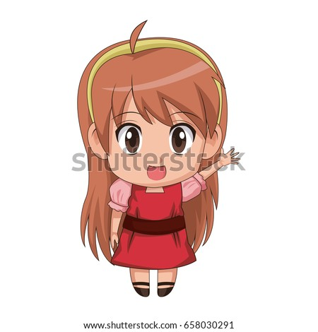 cute anime chibi little girl