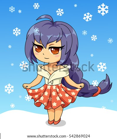 cute anime chibi little girl