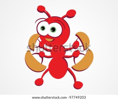 Cute Ant Logo Cute Ant Vector