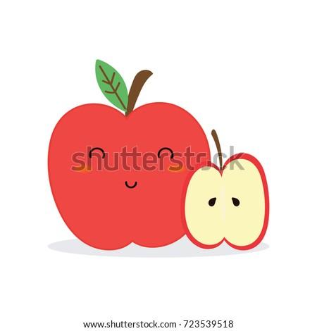 cute apple vector