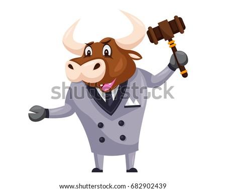 stock-vector-cute-auction-animal-cartoon-character-illustration-bull