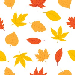 Cute autumn seamless pattern and background