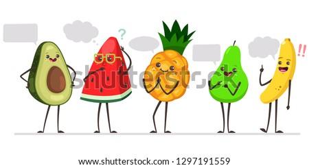 cute avocado  watermelon