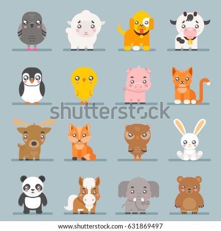 cute baby animals cartoon cubs