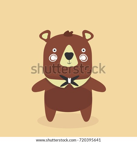 Cute baby bear cartoon.