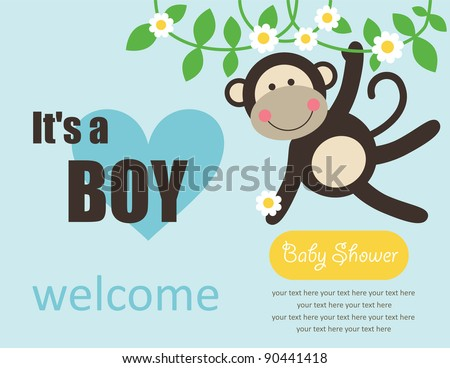 cute baby boy shower vector illustration