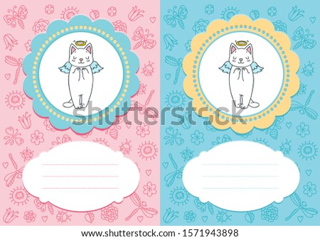 cute baby cards baby girl and