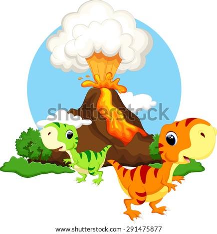 cute baby dinosaur with
