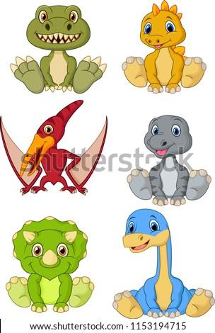 cute baby dinosaurs cartoon