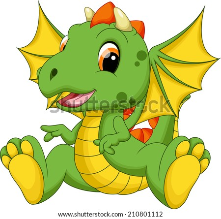 cute baby dragon cartoon