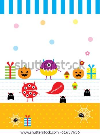 cute baby monster celebrate halloween