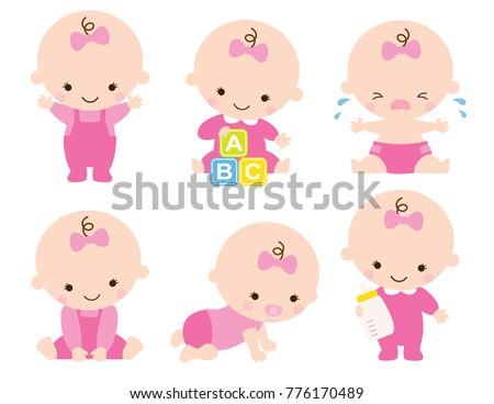 cute baby or toddler girl