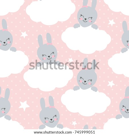 cute baby pattern with little