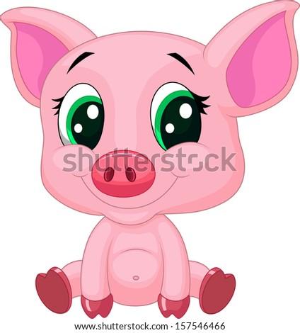 Cute Pigs Drawing Cute Baby Pig Cartoon