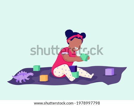 cute baby playing with toy