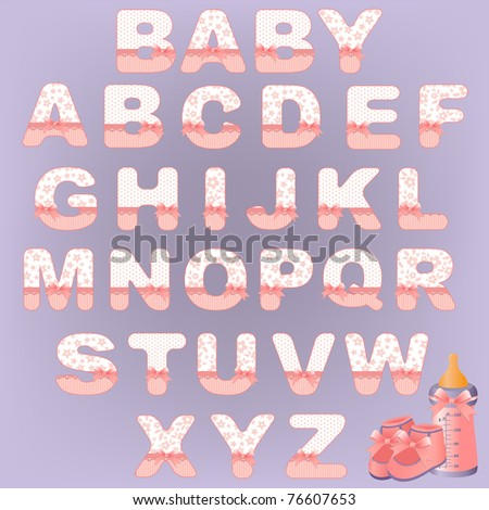 Cute baby's alphabet (EPS10)