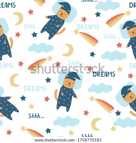cute baby seamless pattern with