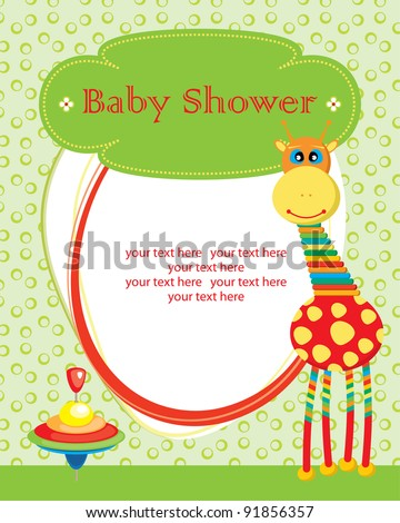 cute baby shower design stock vector illustration 91856357