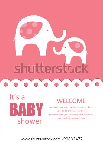 cute baby shower design. vector illustration - stock vector