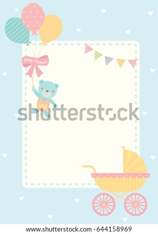 cute baby shower greeting card