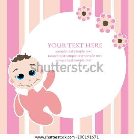 cute baby shower.vector illustration