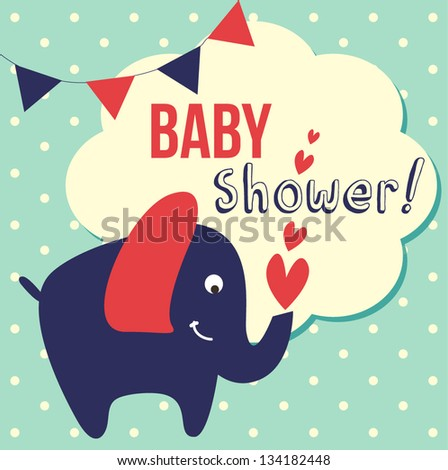 cute baby shower vector illustration 134182448 shutterstock