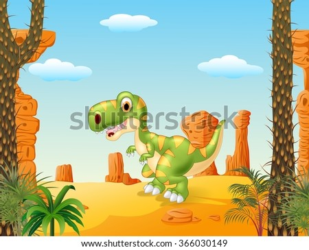 cute baby tyrannosaur with the