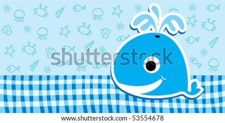 cute baby whale bookmark