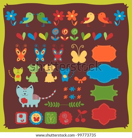 Cute babyish animal stickers