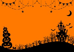 Cute background design for Halloween
