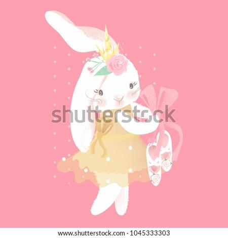 cute ballerina bunny princess
